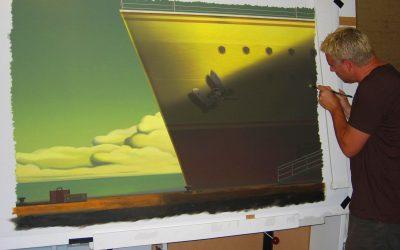 Brush on canvas