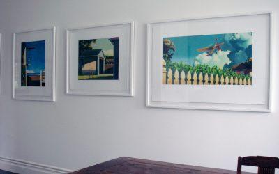 Framed prints up in our hallway