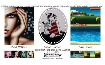 Exhibitions Gallery 23rd August – opening starts 5.30