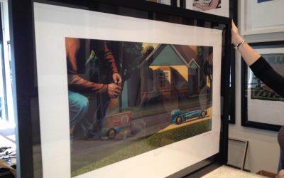 BlueBird Print Framed